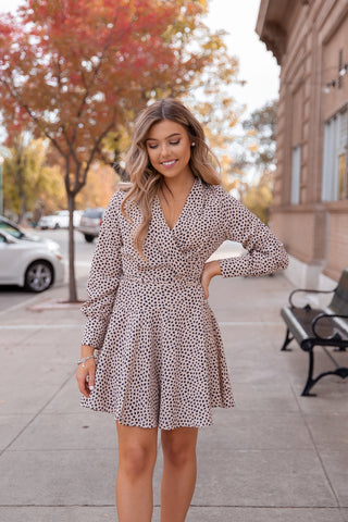 Lucky Leopard Long Sleeve Dress