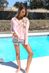 Pool Side 2 Way Stripe Top - llacie