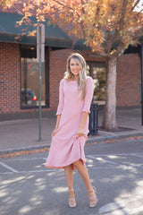 Sway Soft Blush Ribbed Dress