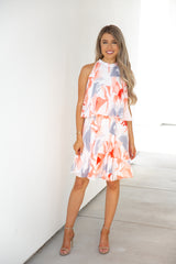 Summer Sunset Halter Dress
