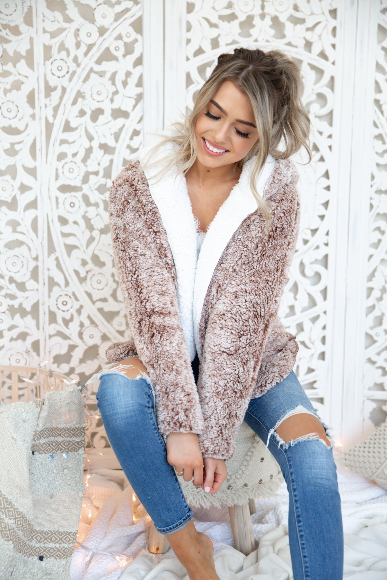 Reversible Faux Fur Jacket - llacie
