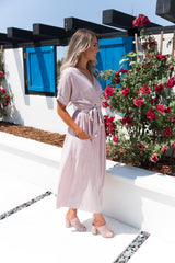 Mauve Midi Pocket Dress