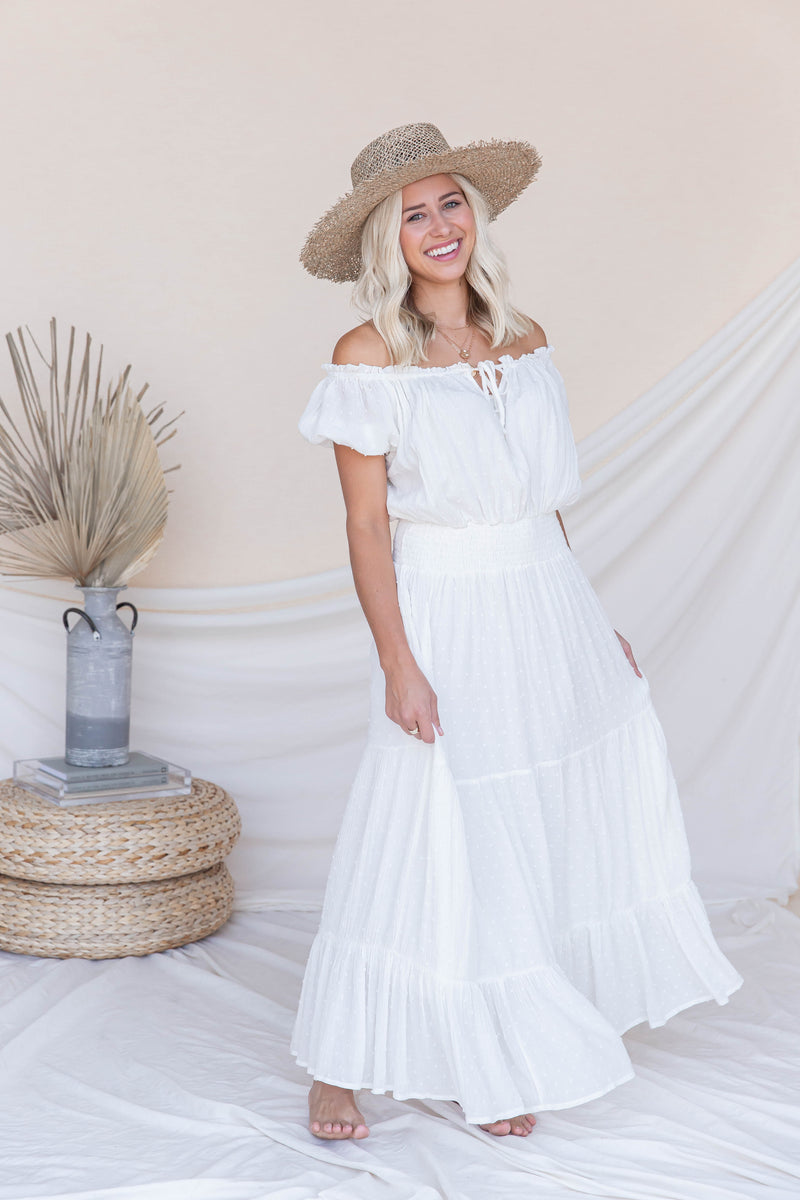 Dream Come True Swiss Dot Maxi Dress- FINAL SALE