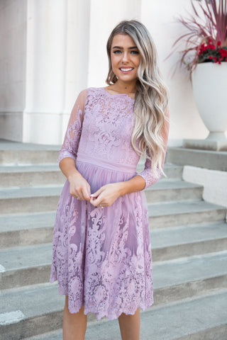 Lilly Lace Lavender Dress