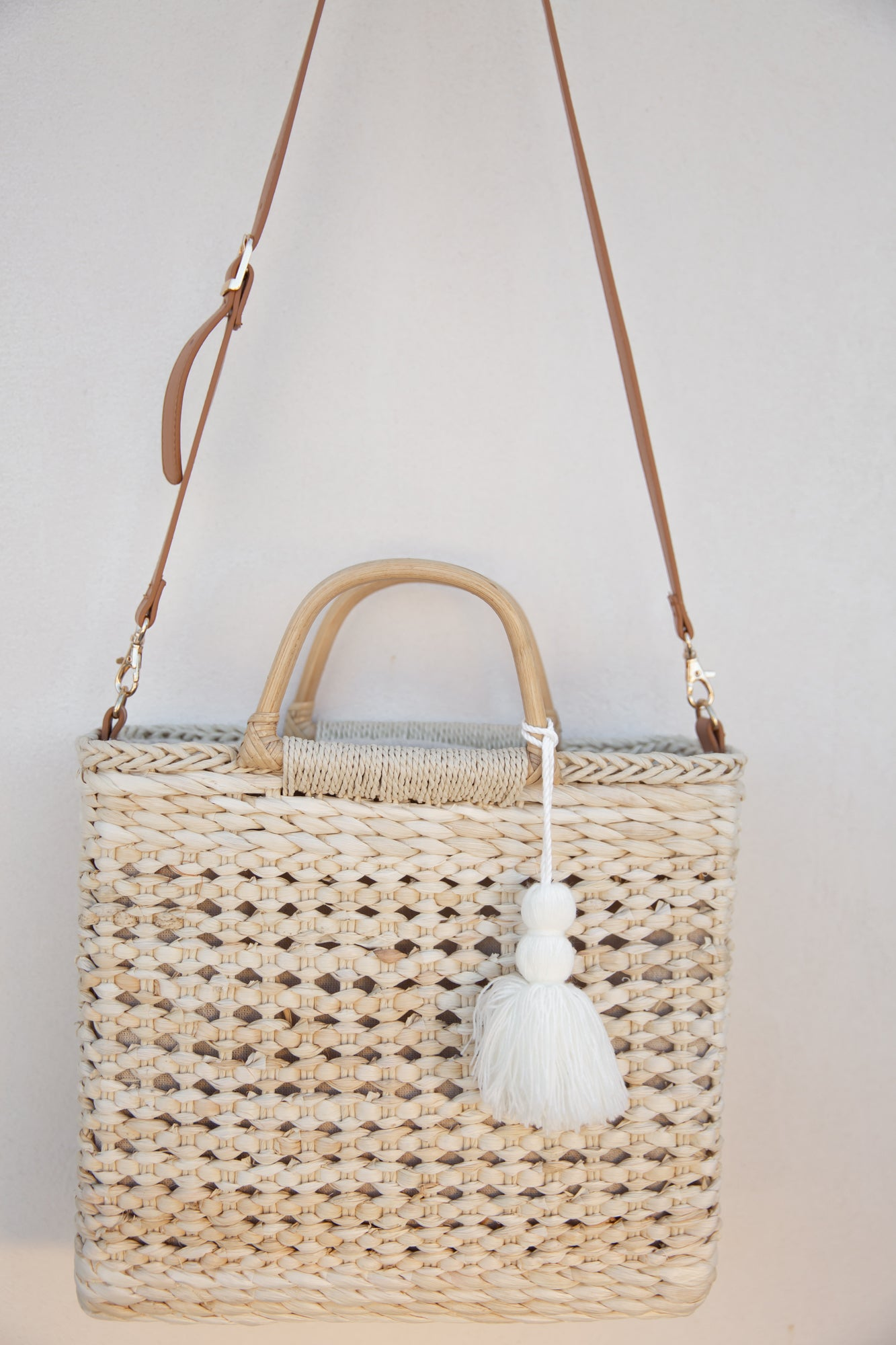 At The Beach Tassel Woven Tote
