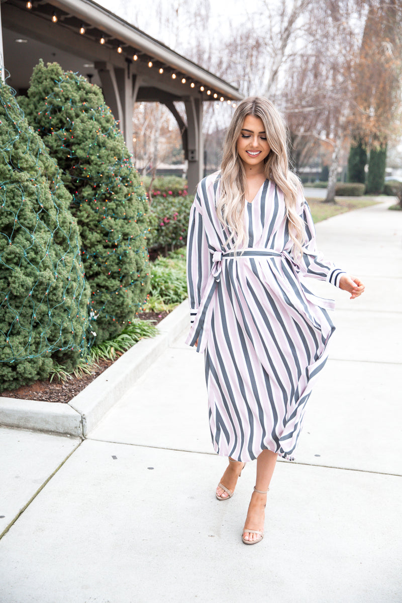 Lena Striped Smocked Dress - llacie