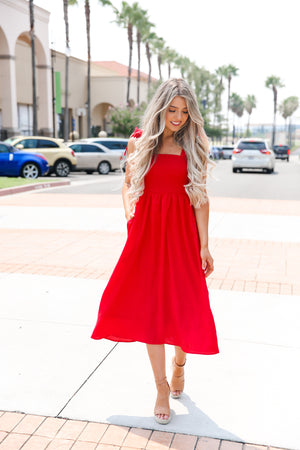 Mickey Red Bow Dress - llacie
