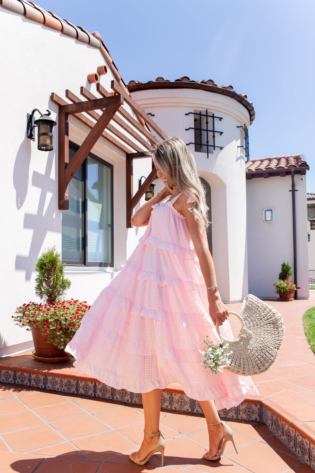 Pink Dream Tiered Dress- FINAL SALE