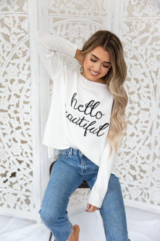 Hello Beautiful Sweater - llacie