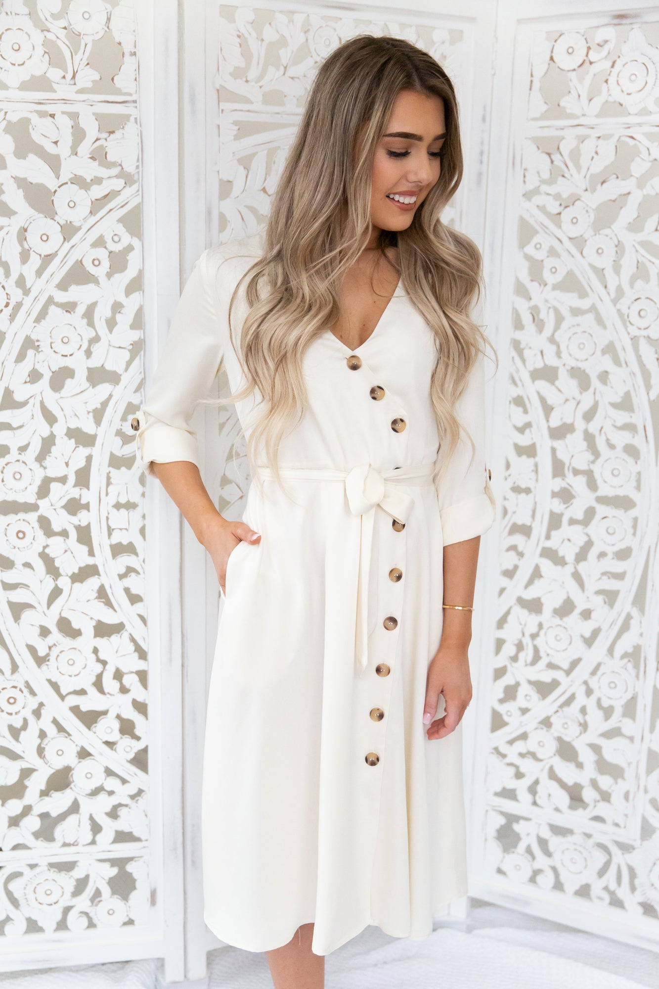 Madison Button Down Dress - llacie