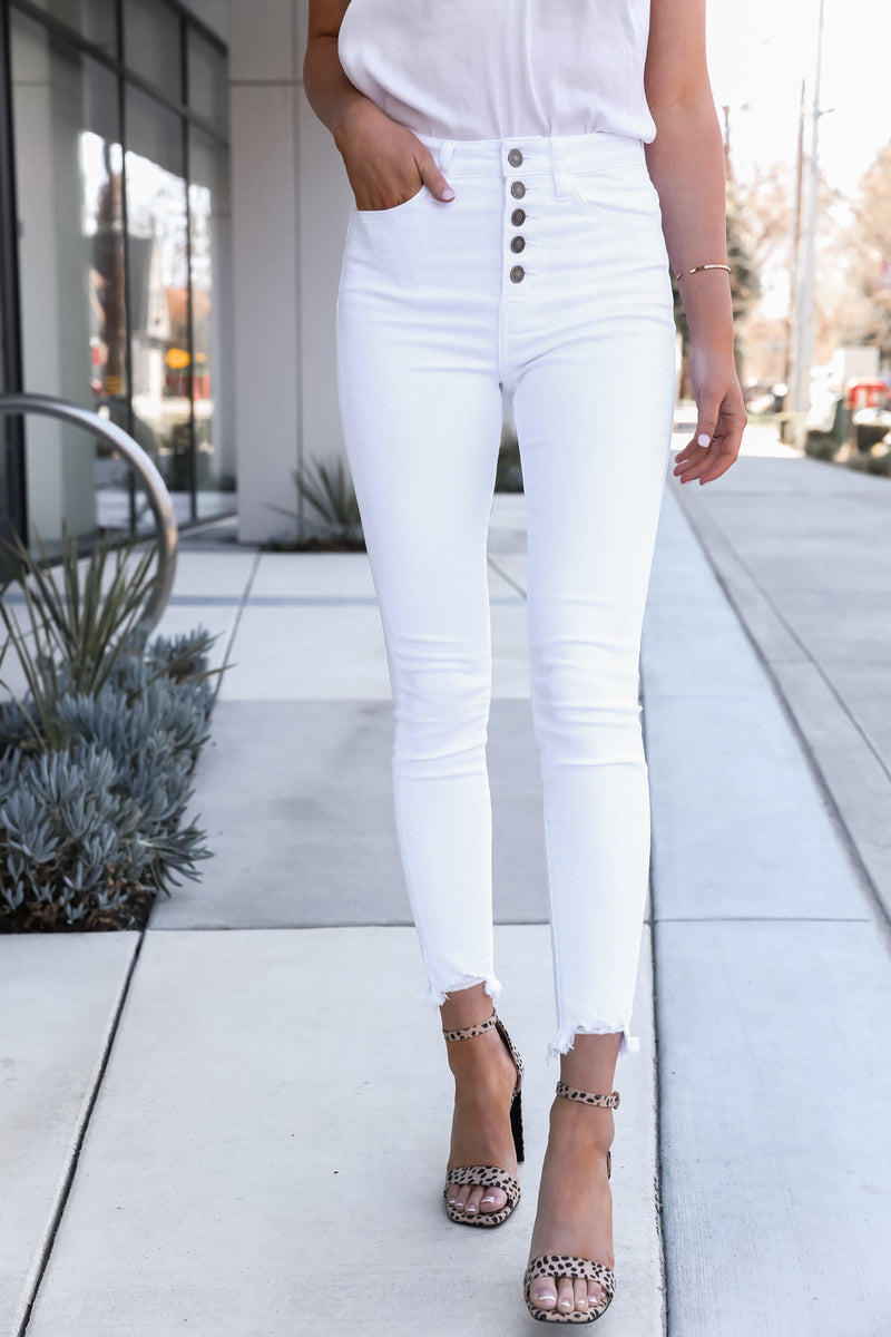 Serena White Ripped Jeans