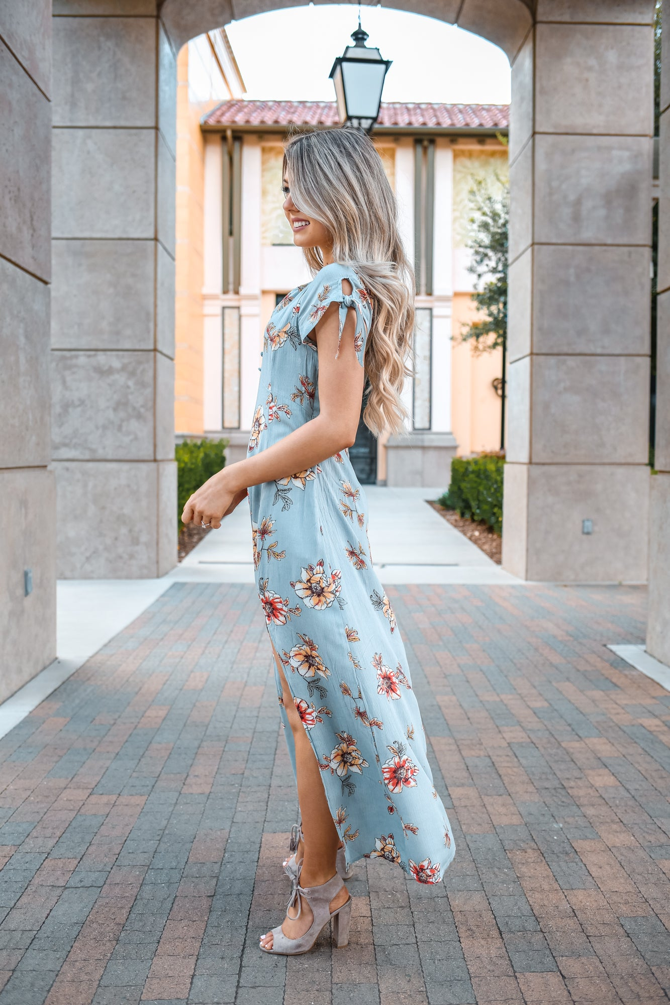 SOFIE FLORAL MIDI DRESS - llacie