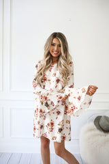 FEELS LIKE FALL FLORAL DRESS
