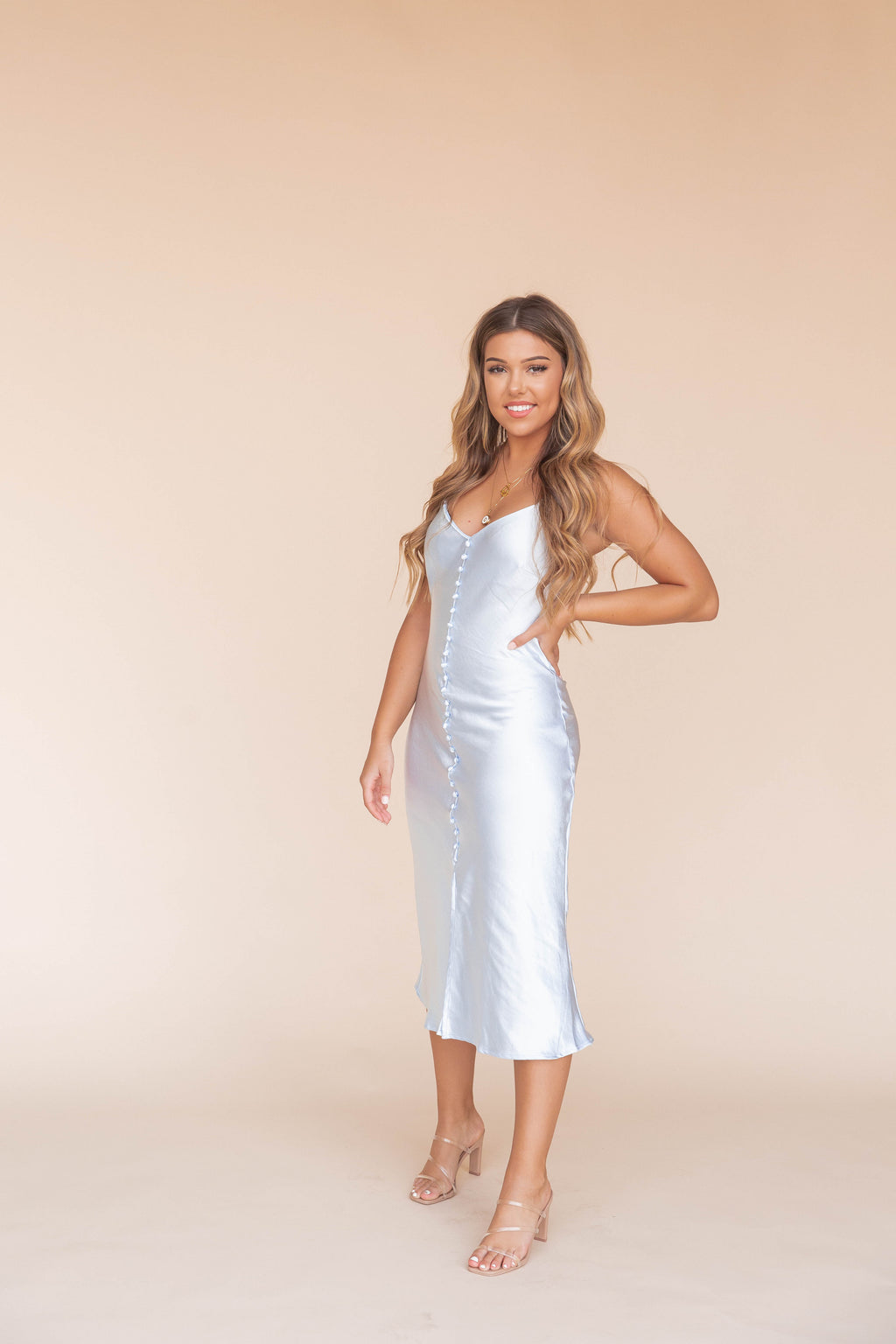 Leonie Light Blue Slip Dress- FINAL SALE | LLACIE