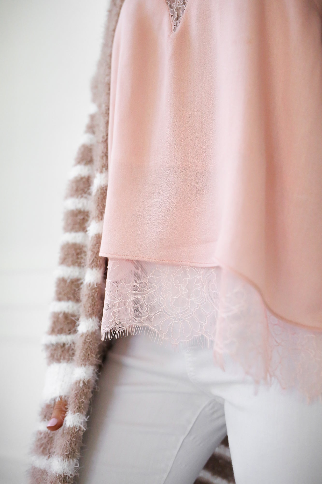 Pink Tank With Lace Detail - llacie
