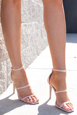 Blush Square Toe Heels- FINAL SALE
