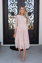 Princess Blush Lace Dress