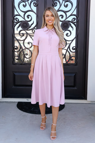 With Me Blush Midi Dress