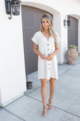 Naturally Yours Button Down Dress- FINAL SALE