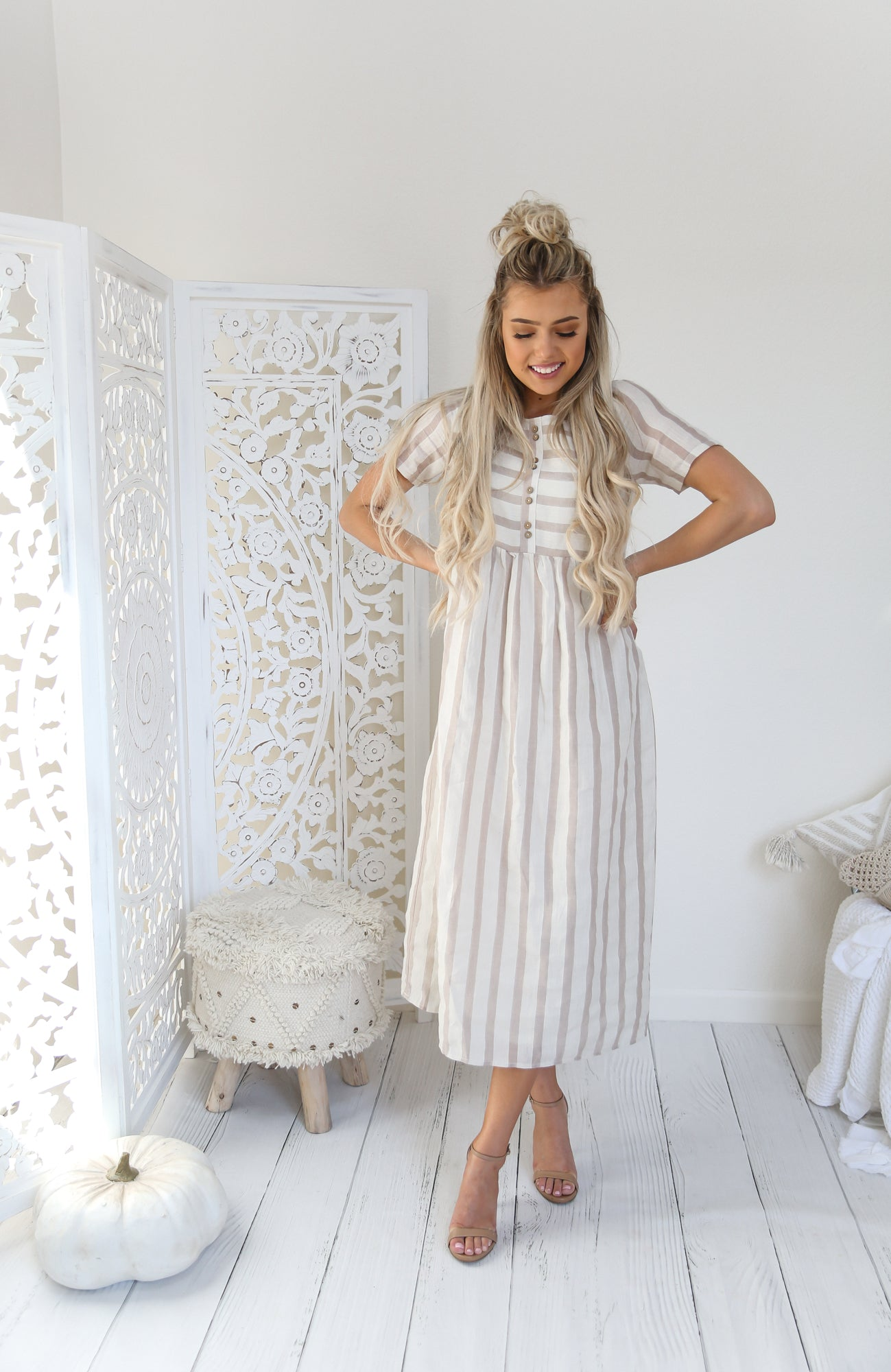 Opal Midi Stripe Dress