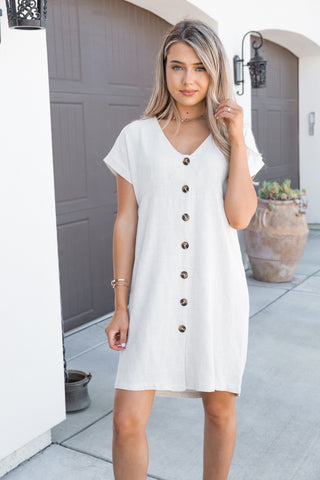 Naturally Yours Button Down Dress