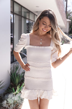 Ana Ivory Bodycon Dress