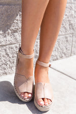 Long Walk Taupe Wedges-FINAL SALE
