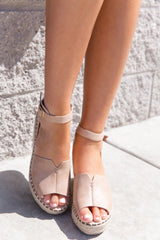 Long Walk Taupe Wedges