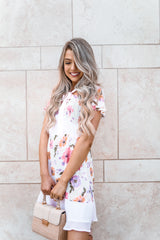 FLORAL SWEETHEART DRESS - llacie