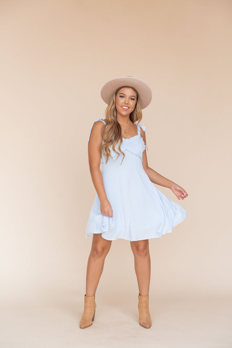 Corinne Baby Blue Dress- FINAL SALE | LLACIE
