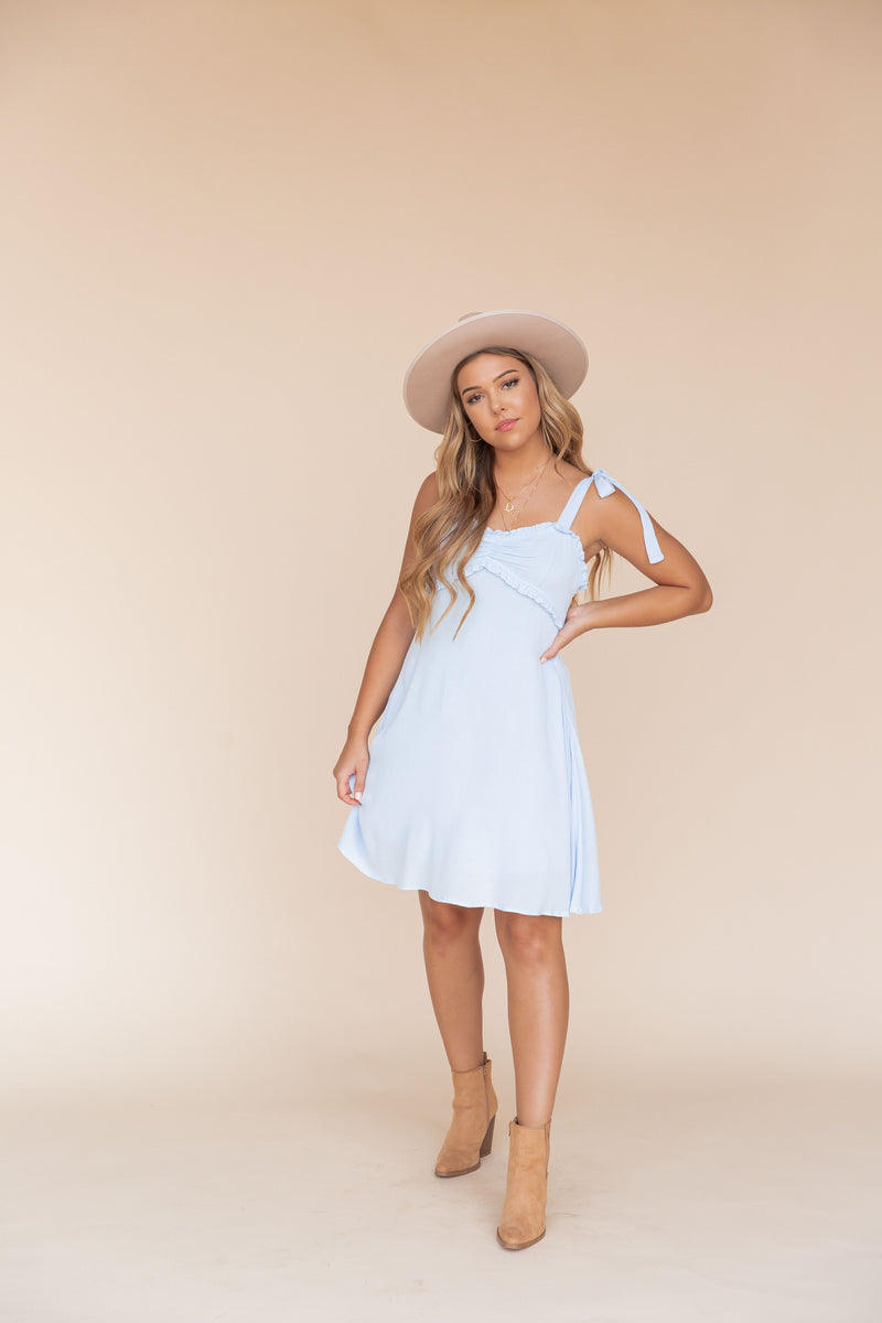 Corinne Baby Blue Dress- FINAL SALE