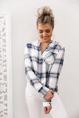 Pen Plaid Top