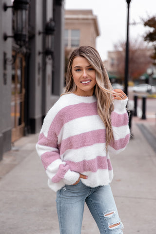 Jessi Fuzzy Stripe Sweater