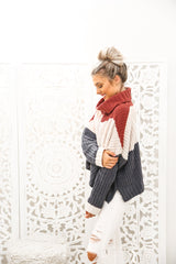 Neve Cozy Colorblock Sweater
