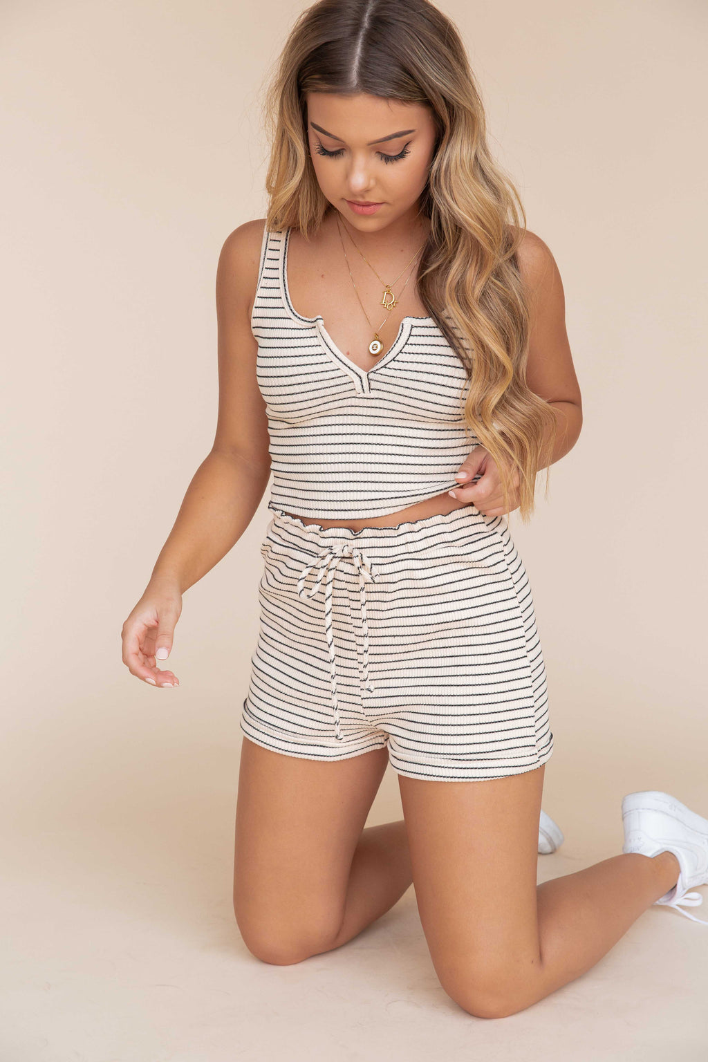 Ribbed Sleeveless Top & Shorts Set- FINAL SALE | LLACIE