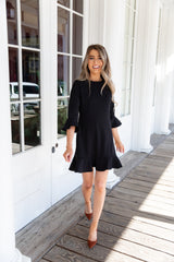 Midnight Black Ruffle Dress - llacie
