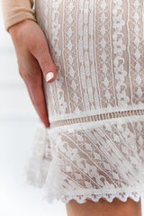 IVORY LACE SKIRT-LOST AND WANDER - llacie