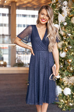 Hope Navy Sequins Dress- FINAL SALE