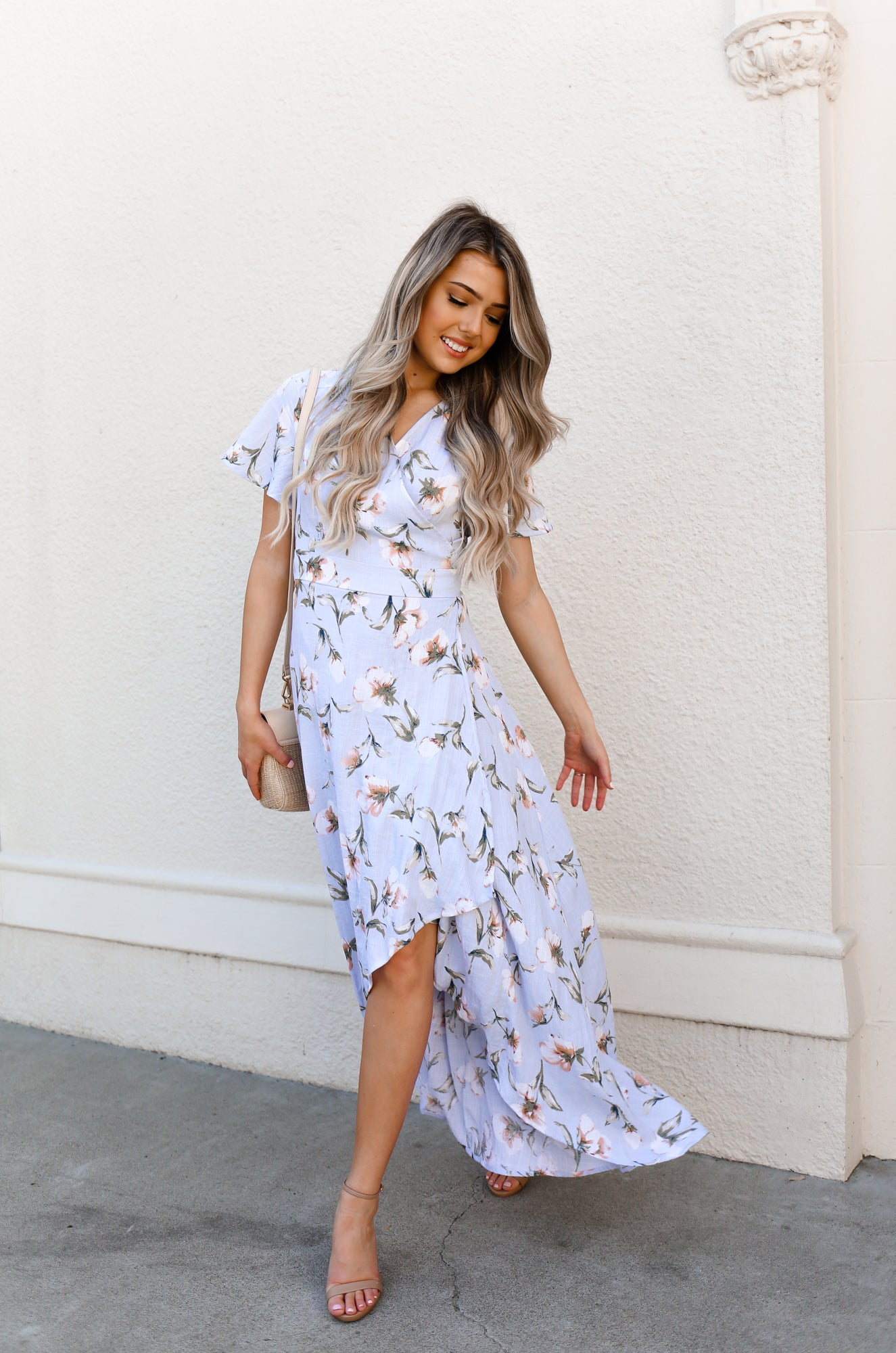 RILEY FLORAL WRAP DRESS - llacie