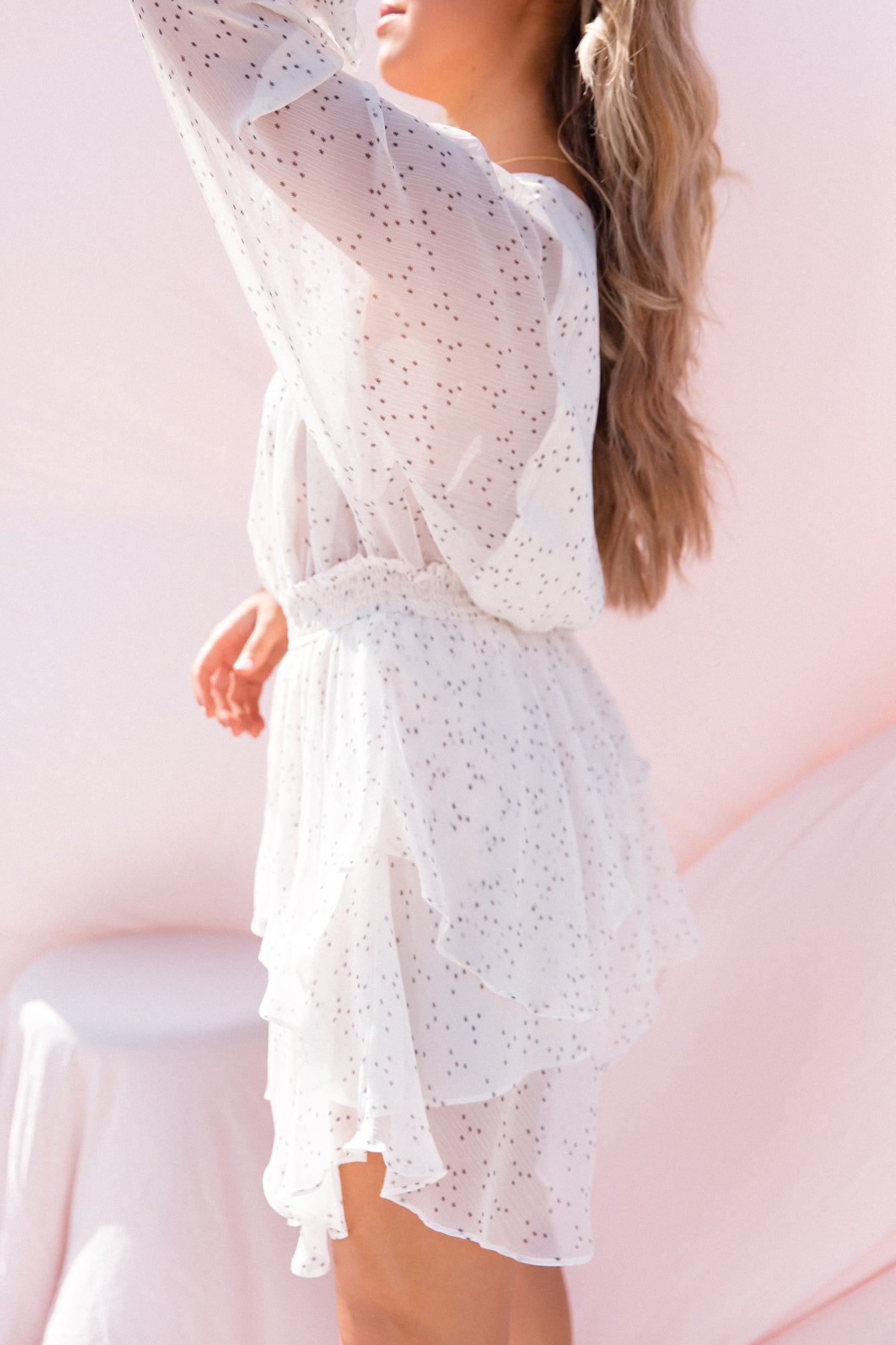 Day Dreamer White Star Dress