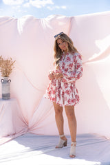 Sunny Spirit Red Floral Dress