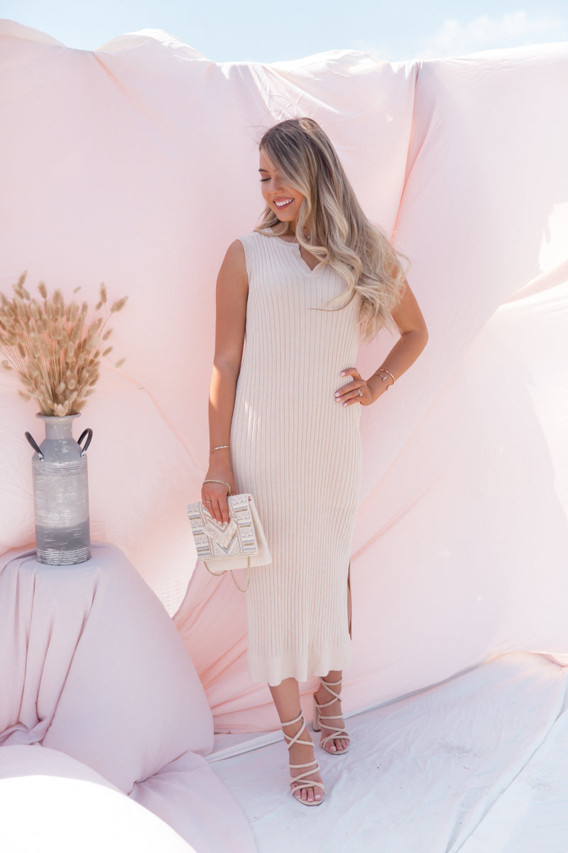 Kira Sleeveless Knit Midi Dress