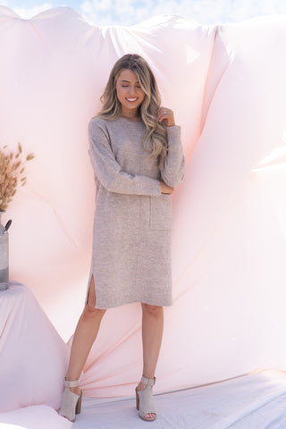 Statement Pocket Sweater Dress