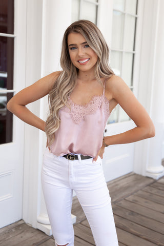 Lace Cami in Rose