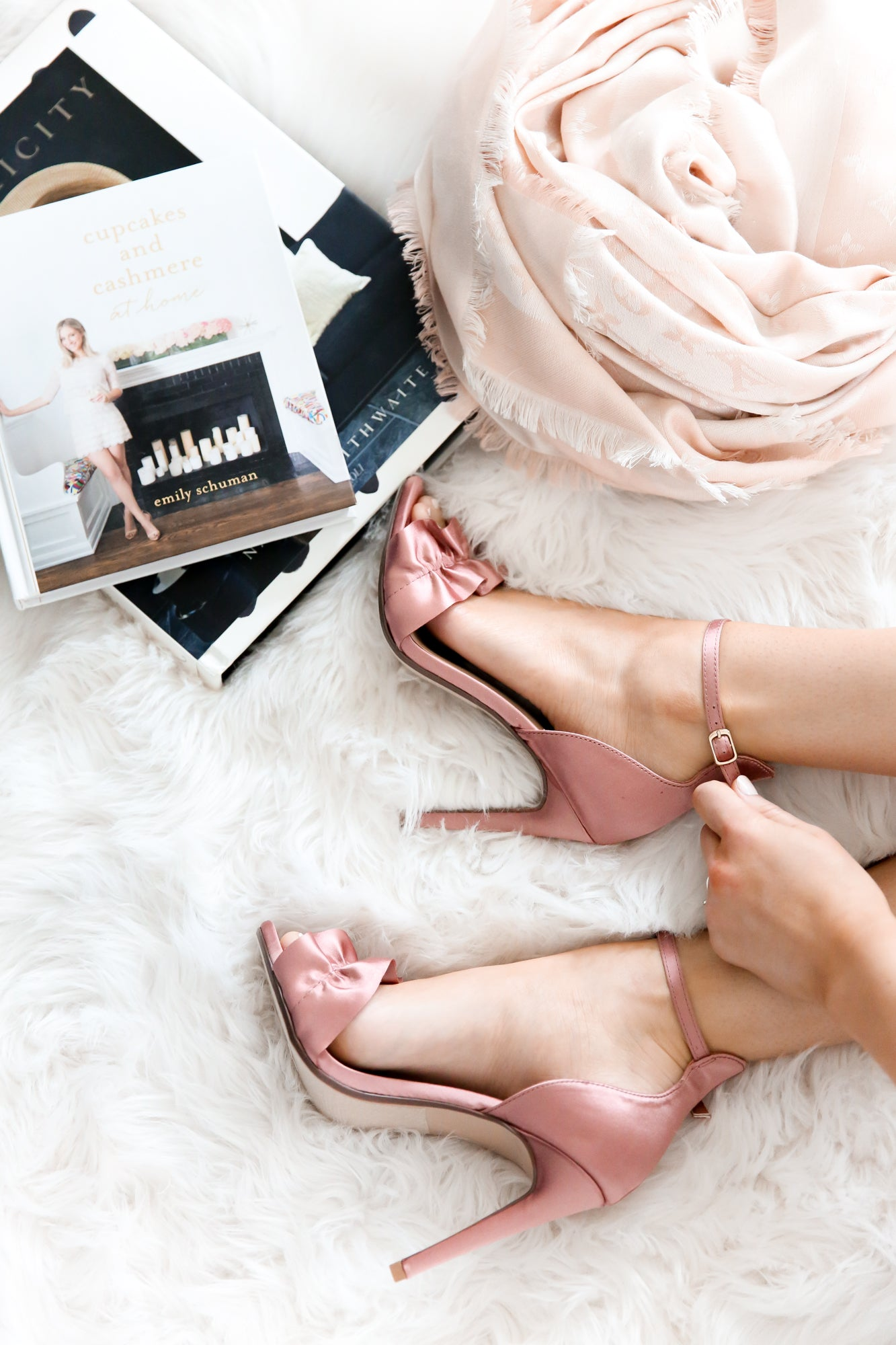 ROSE GOLD RUFFLE PUMPS - llacie
