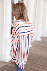 Striped High-Low Shirt - llacie