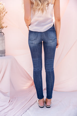 Mid Rise Dark Wash Jeans