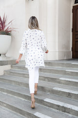 Kate White Floral Tunic Blouse