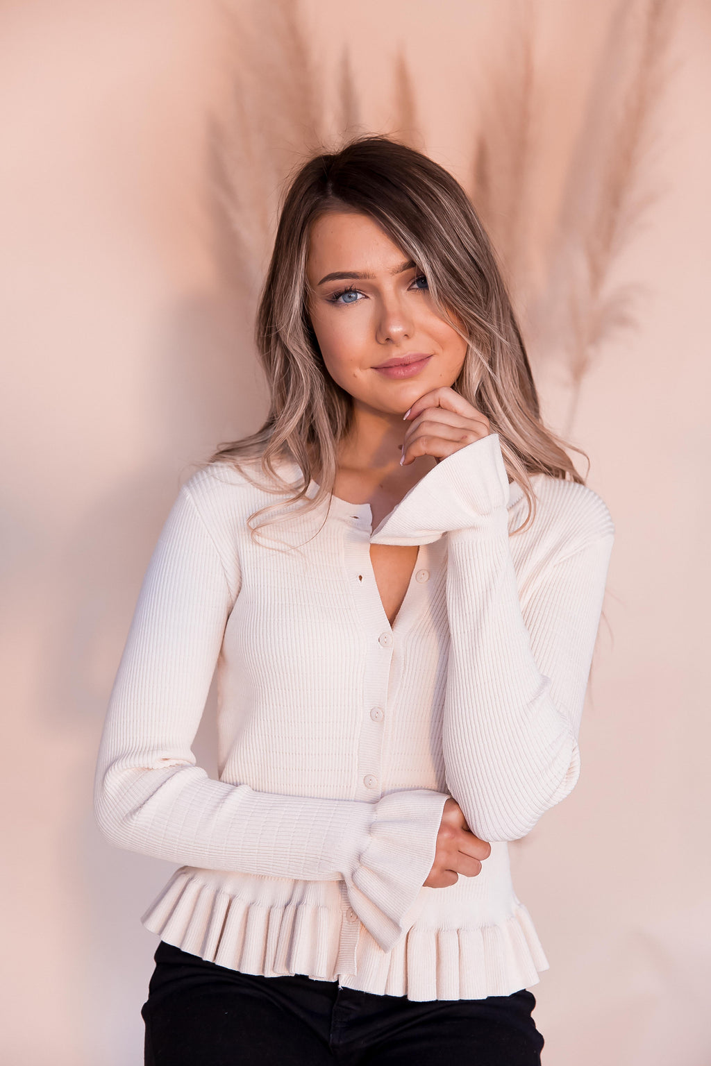 Molly Beige Cardigan- FINAL SALE