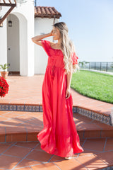Tassel Off The Shoulder Maxi Dress